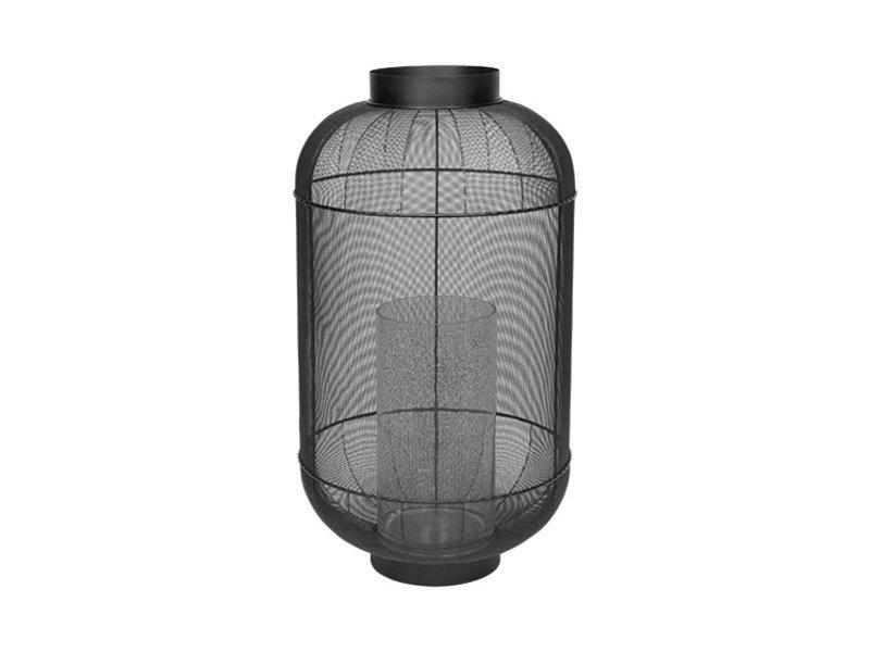 Broste Copenhagen Bull lantaarn metaal/glas -Ø46,5XH82,5CM