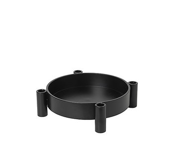 Broste Copenhagen Silke candle holder black
