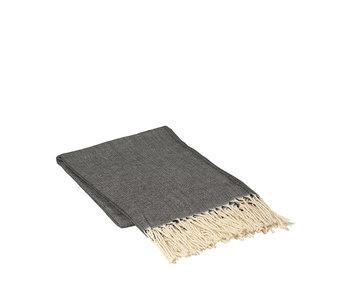 Broste Copenhagen Aase plaid charcoal - W140XL180CM
