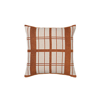 Broste Copenhagen Checker cushion incl filling - W50XL50CM