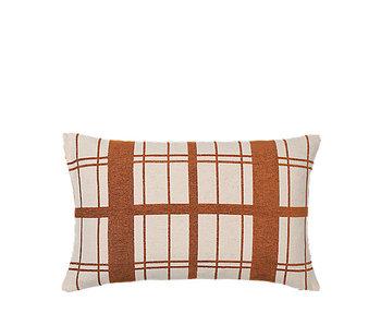 Broste Copenhagen Checker cushion incl filling - W40XL60CM
