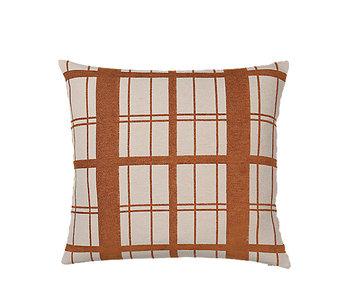 Broste Copenhagen Checker cushion incl filling - W60XL60CM