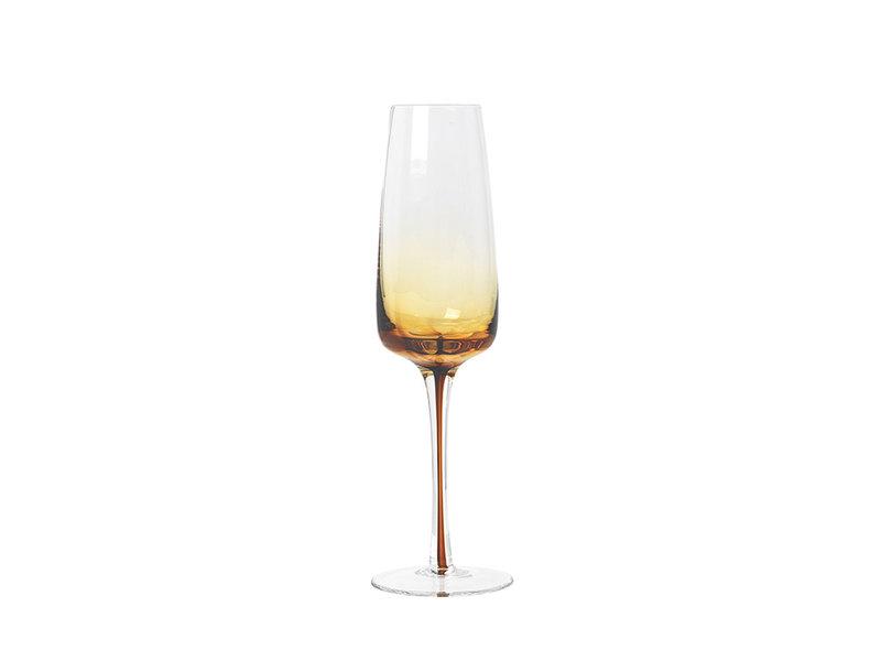 Broste Copenhagen Amber champagne glazen - set van 12 stuks