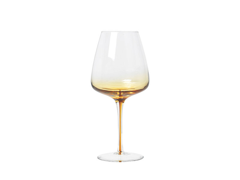 Broste Copenhagen Amber rode wijn glazen - set van 12 stuks
