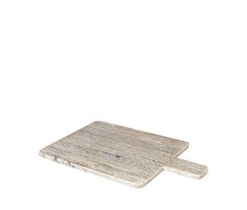 Broste Copenhagen Planche à découper Adam marbre - marron