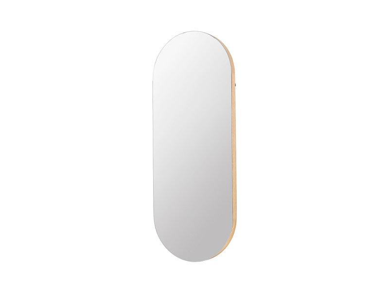 Broste Copenhagen Alva ovaal spiegel - eikenhout/glas