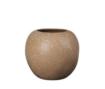 Broste Copenhagen Vase poterie pomme café - Ø31XH28CM