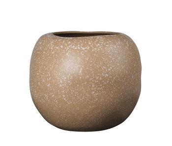 Broste Copenhagen Apple vaas aardewerk koffie - Ø41,5XH34,5CM