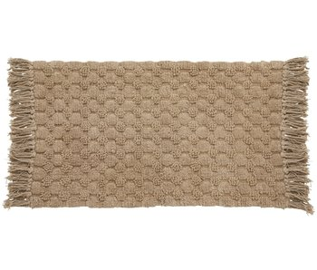 Nordal Luna bath mat - light brown 60x100cm