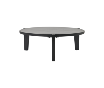 House Doctor Bali coffee table - black Ø110cm