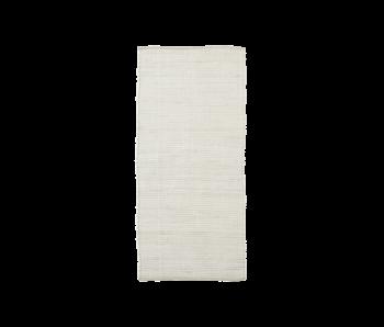House Doctor Chindi Teppich - weiß 70x160cm