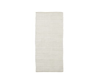 House Doctor Tapis Chindi - blanc 70x160cm