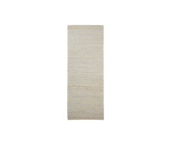 House Doctor Hempi vloerkleed - lichtgrijs 90x300cm