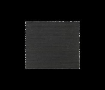 House Doctor Hempi vloerkleed - zwart 180x180cm