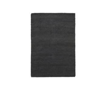 House Doctor Hempi rug - black 85x130cm