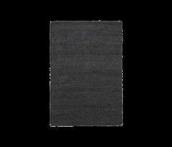 House Doctor Hempi vloerkleed - zwart 85x130cm