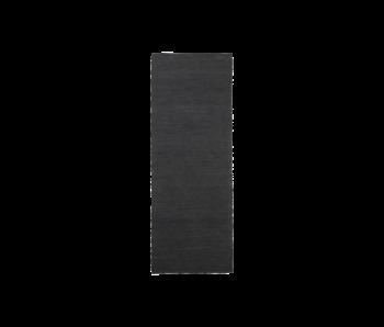 House Doctor Hanf Teppich - schwarz 90x300cm