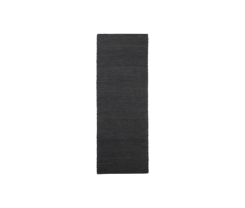 House Doctor Hempi rug - black 90x300cm