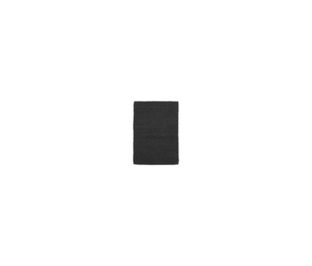 House Doctor Hempi vloerkleed - zwart 60x90cm
