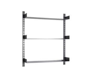 House Doctor Fari planken systeem - zwart 100x90x20cm
