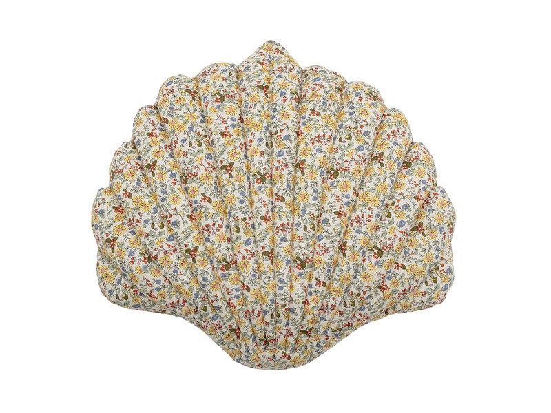 Bloomingville Mini Fro kussen - geel