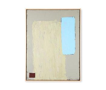 HK-Living Peinture abstraite - pistache / bleu 60x80cm