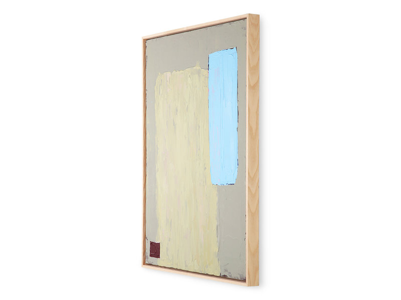 HK-Living Abstract painting - pistachio/blue 60x80cm
