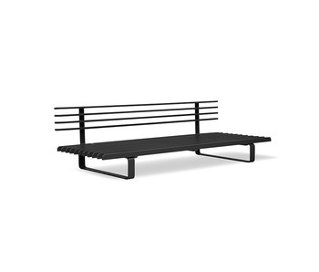 HK-Living Outdoor lounge sofa aluminum - charcoal