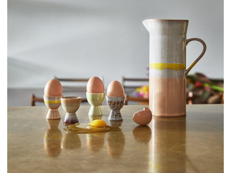 HK-Living Keramieken 70's eierdoppen- set van 4 stuks