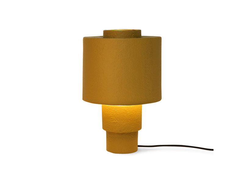 HK-Living Gesso tafellamp - mat mosterd