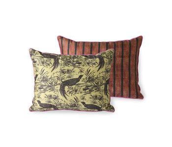 HK-Living Printed silk pillow - jungle