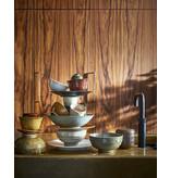 HK-Living Kyoto keramiek kleine bordjes - bruin sets van 5 stuks