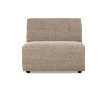 HK-Living Vint element sofa module middle linen blend - taupe