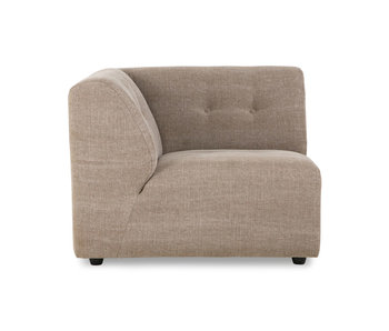 HK-Living Vint element sofa left linen blend - taupe