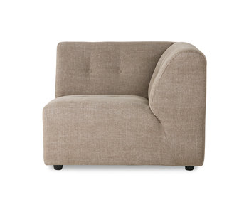 HK-Living Vint element sofa right linen blend - taupe