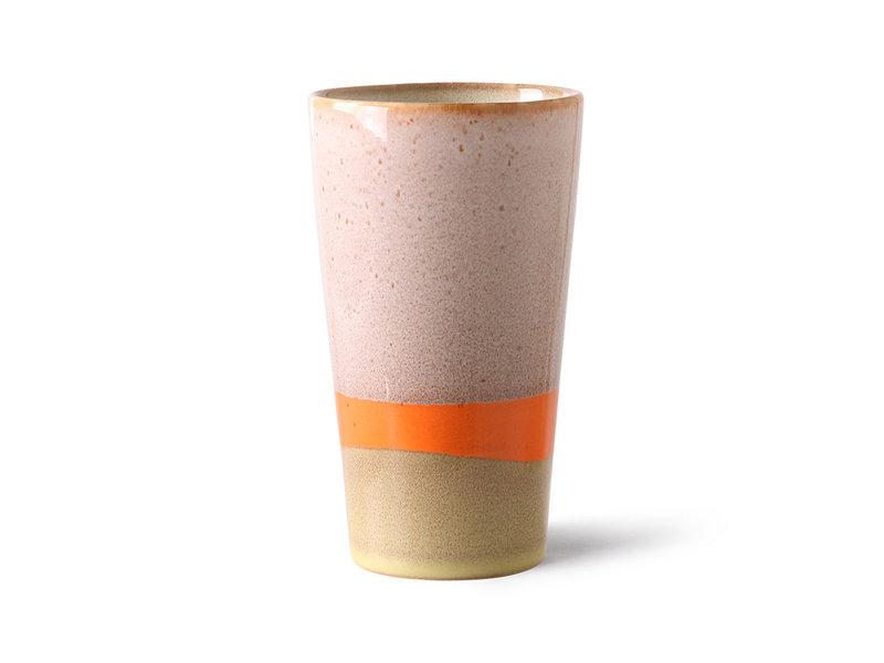 HK-Living Keramieken 70's latte mokken saturn - set van 4 stuks
