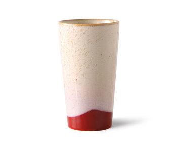 HK-Living Keramieken 70's latte mokken frost - set van 4 stuks