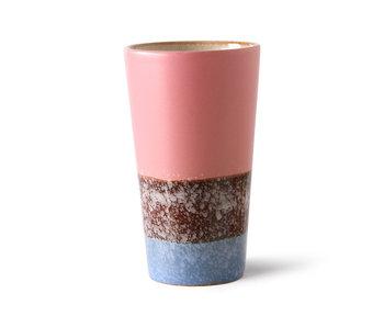 HK-Living Keramieken 70's latte mokken reef - set van 4 stuks