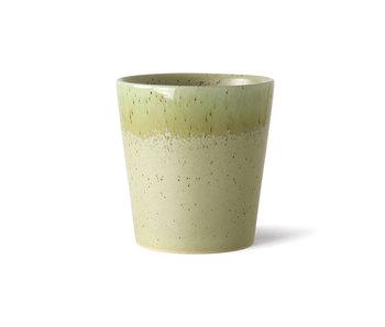 HK-Living Keramieken 70's mokken pistachio - set van 6 stuks