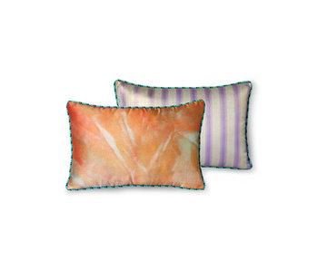 HK-Living Printed silk pillow - glitter