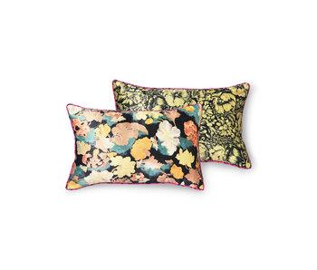 HK-Living Printed silk pillow - retro