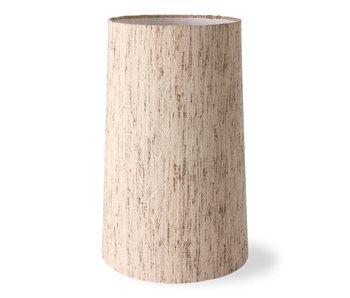 HK-Living Cone lampshade silk - natural Ø36CM