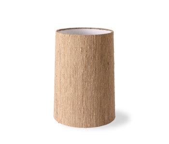 HK-Living Cone lampenkap zijde - bruin ø32cm