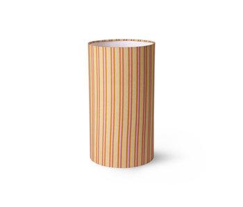 HK-Living Printed cylinder lampenkap - gestreept