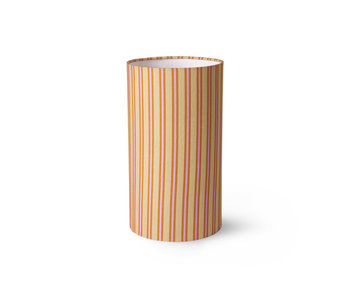 HK-Living Printed cylinder lampshade - striped