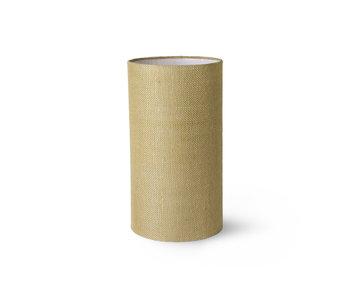 HK-Living Cylinder lampshade burlap - jade green
