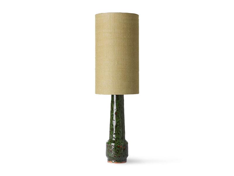 HK-Living Cylinder lampenkap jute - jade groen