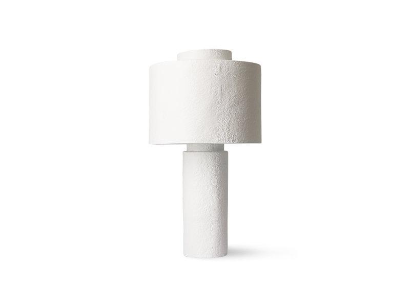 HK-Living Gesso tafellamp - mat wit