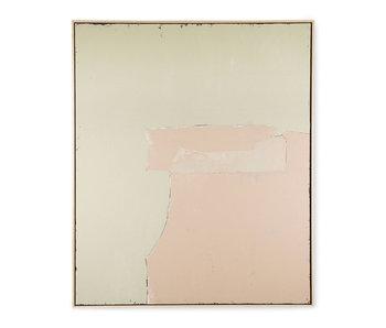 HK-Living Peinture abstraite - olive / nude 100x120cm