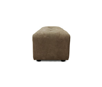 HK-Living Vint element sofa small hocker - corduroy brown